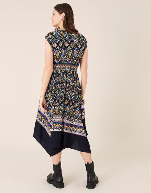 Pablo Contrast Print Hanky Hem Dress, Multi (MULTI), large