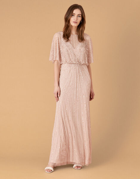 Taylor Embellished Maxi Dress Pink, Pink (PINK), large