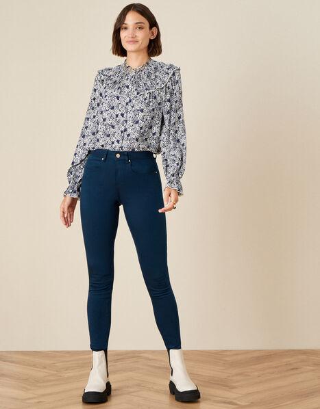 Nadine Regular-Length Skinny Jeans Blue, Blue (PETROL), large
