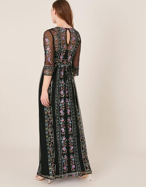 Florencia Embellished Maxi Dress Black, Black (BLACK), large