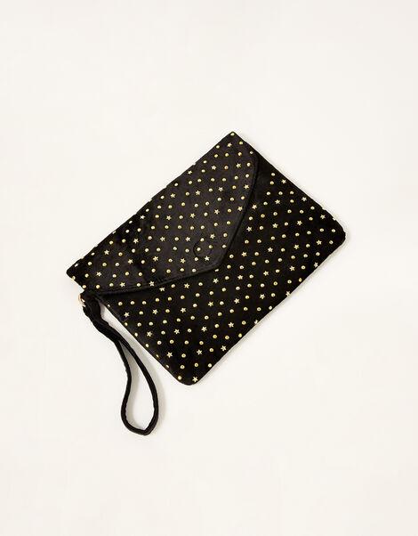 Velvet Embellished Clutch Bag , , large