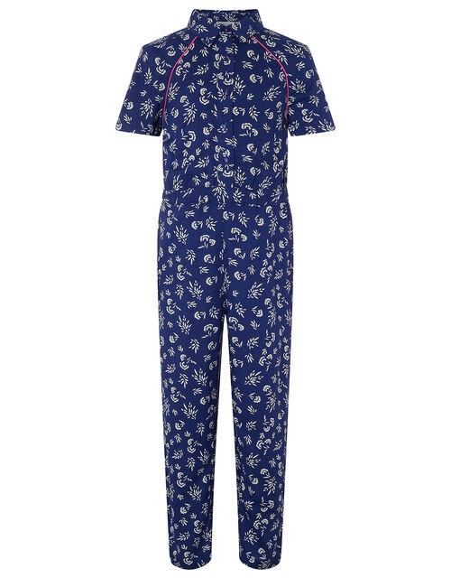 Phoebe Ditsy Floral Jumpsuit, Blue (NAVY), large