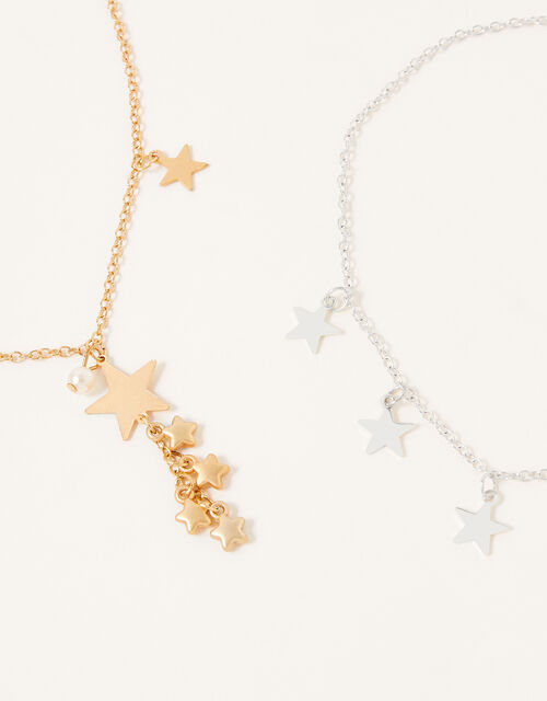 Star and Tassel Necklace Set, , large