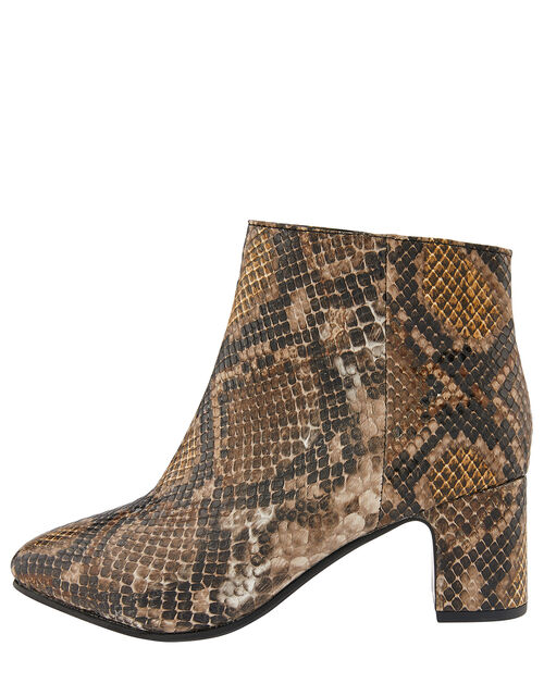 Selena Snake Ankle Boots, Multi (MULTI), large