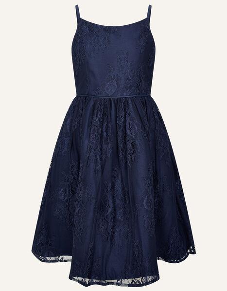 Lace Prom Dress Blue, Blue (NAVY), large