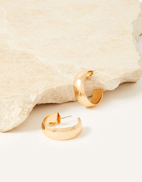 Whitley Hammered Chunky Hoops, , large