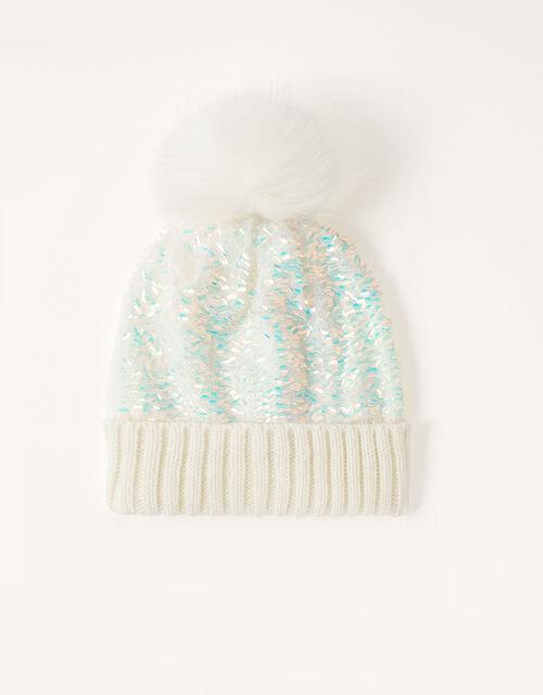 Dolly Sequin Pom-Pom Hat , Multi (MULTI), large
