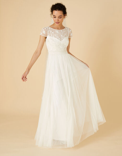 Embellished Bridal Maxi Dress  Ivory, Ivory (IVORY), large