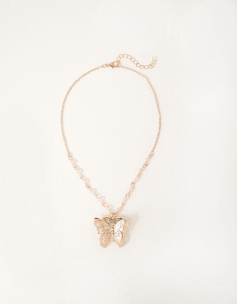 Flutter Butterfly Locket Necklace , , large