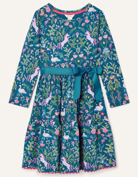 Fantastical Printed Jersey Dress Blue, Blue (NAVY), large