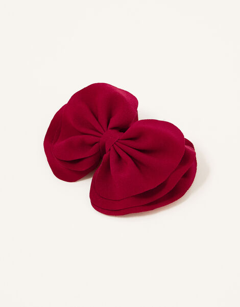 School Large Bow Hair Clip , , large