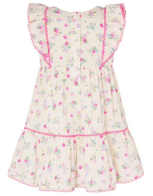 Baby Dobby Ditsy Dress, Ivory (IVORY), large