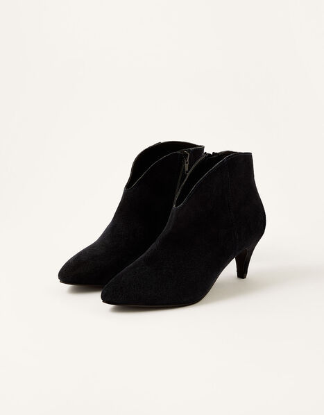 Low Vamp Suede Ankle Boots Blue, Blue (NAVY), large