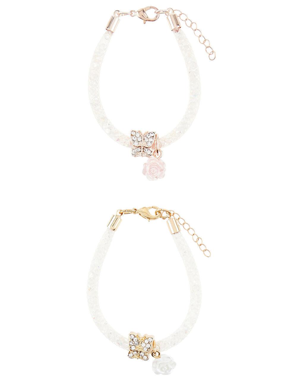 Diamante Butterfly Encased Bracelets, , large