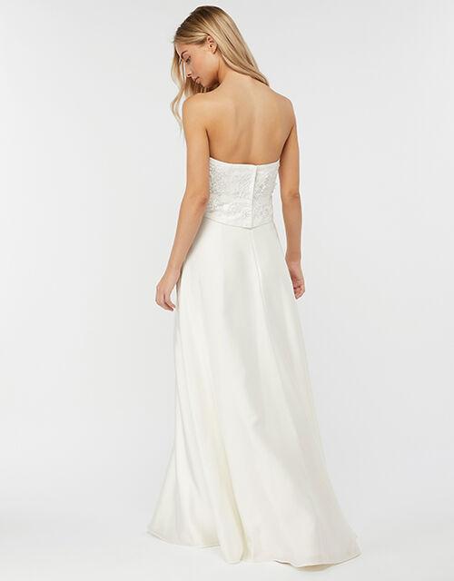 Eugenie Embellished Bridal Corset, Ivory (IVORY), large
