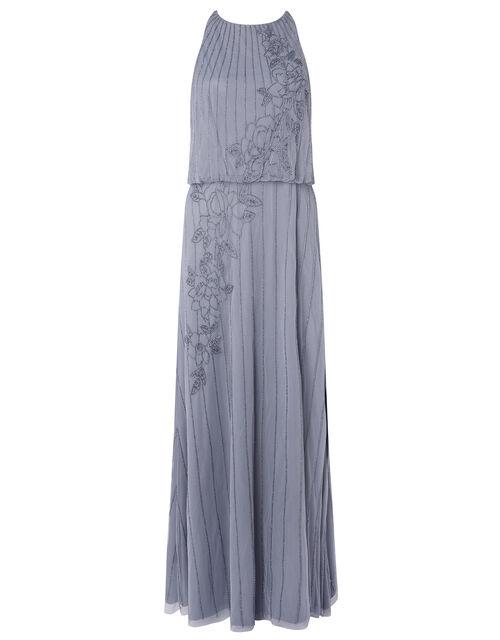 ARTISAN Summer Beaded Floral Dress, Blue (DARK BLUE), large