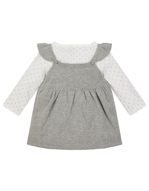 Newborn Baby Owl Knit Dress and Top Set, Grey (GREY), large