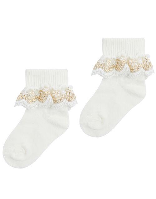 Baby Lace Cuff Sock Set, Multi (MULTI), large