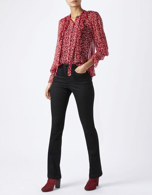 Nieve Bootcut Short Length Jean, Black (BLACK), large