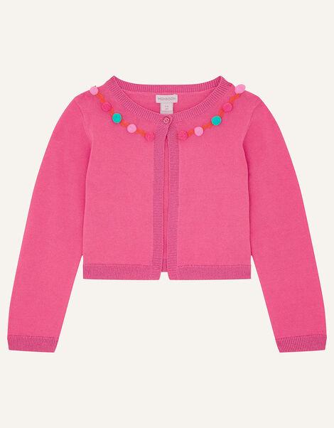 Pom-Pom Bolero Pink, Pink (BRIGHT PINK), large