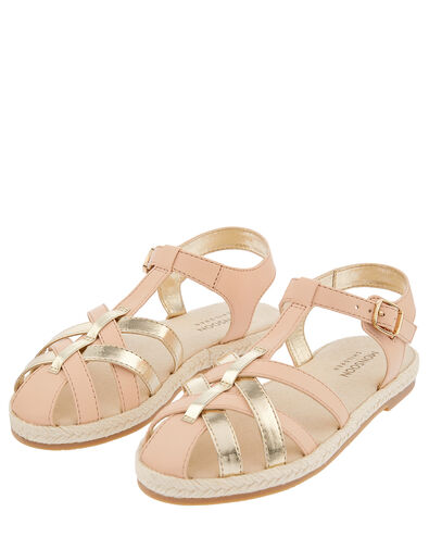 Caged Espadrille Sandals Pink, Pink (PINK), large