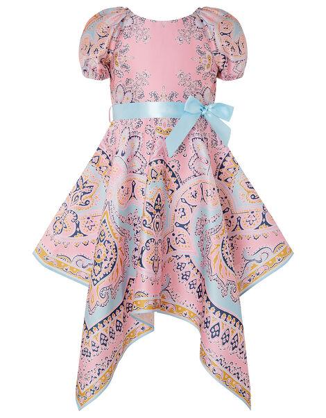 Paisley Hanky Hem Dress Multi, Multi (MULTI), large