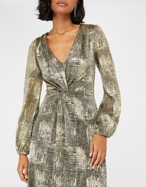 Vanessa Twist Maxi Dress, Gold (GOLD), large