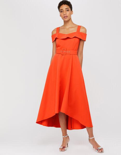 Consuela Cross Neck Dress Orange, Orange (ORANGE), large