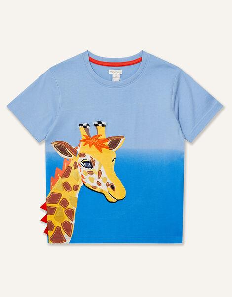 Giraffe T-Shirt Blue, Blue (BLUE), large