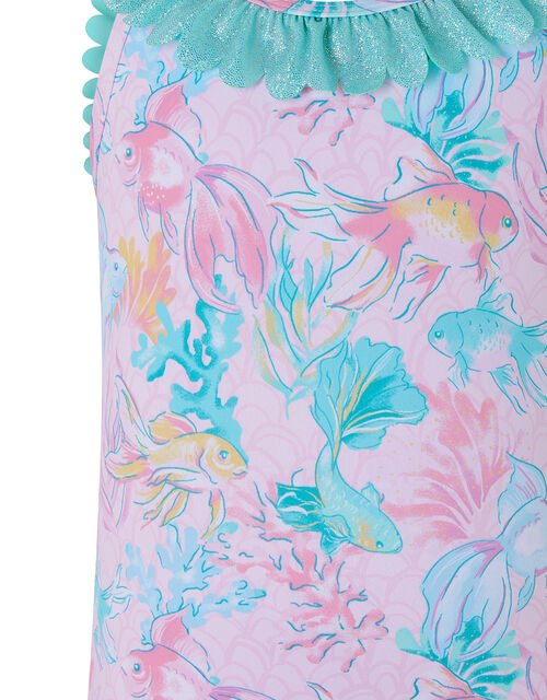Baby Dinah Printed Shimmer Swimsuit, Pink (PALE PINK), large