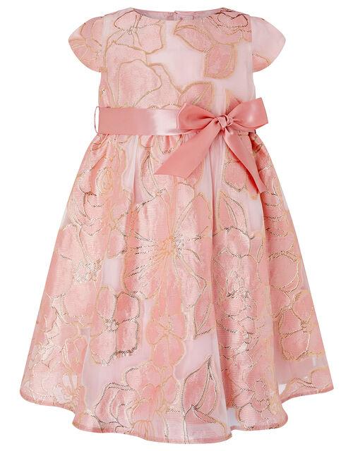 Baby Chelsea Floral Jacquard Dress, Pink (PINK), large