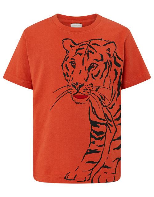 Terry Tiger T-Shirt, Orange (ORANGE), large