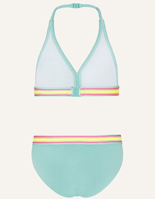 Sporty Textured Bikini Set, Blue (TURQUOISE), large