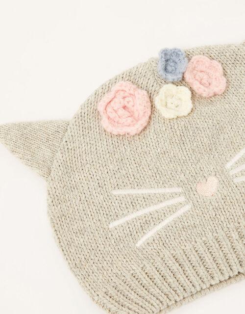 Baby Luna Cat Beanie, Grey (GREY), large