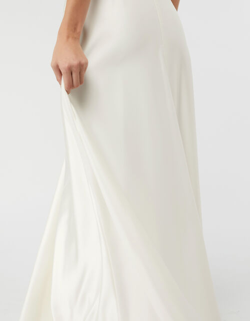 Jane Satin Bridal Maxi Skirt, Ivory (IVORY), large