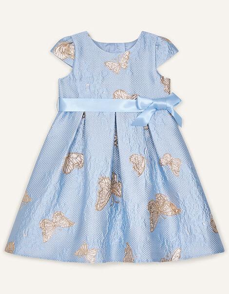Baby Butterfly Jacquard Dress Blue, Blue (BLUE), large