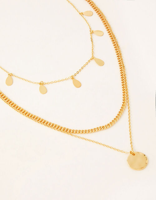 Gold-Plated Layered Necklace, , large