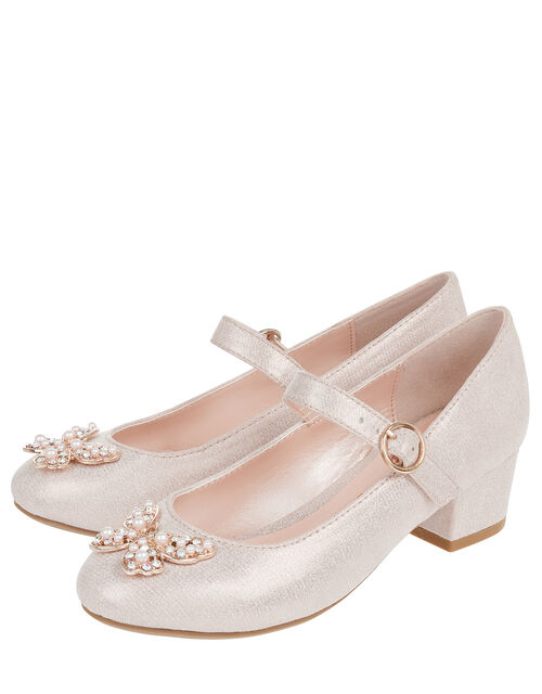 Vienna Pearly Butterfly Shoes, Pink (PINK), large