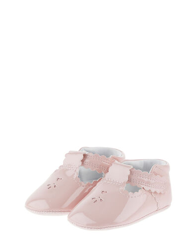 Patent Cutwork Booties Pink, Pink (PINK), large
