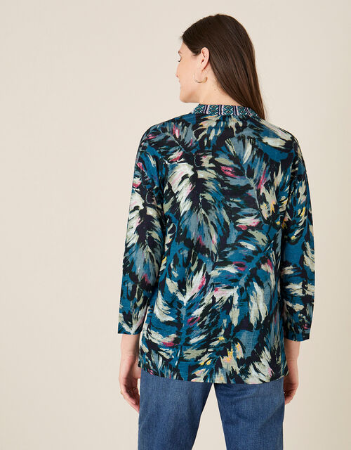 Peta Palm Print Cover-Up, Teal (TEAL), large