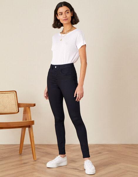 Nadine Short Length Jeans with Organic Cotton Blue, Blue (INDIGO), large