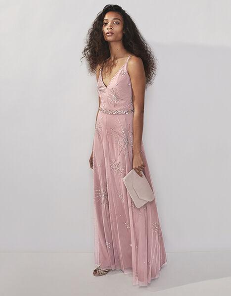 Arabella Star Embellished Maxi Dress Pink, Pink (PINK), large