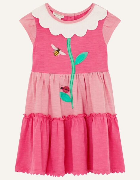 Baby Daisy Dress in Organic Cotton  Pink, Pink (PINK), large