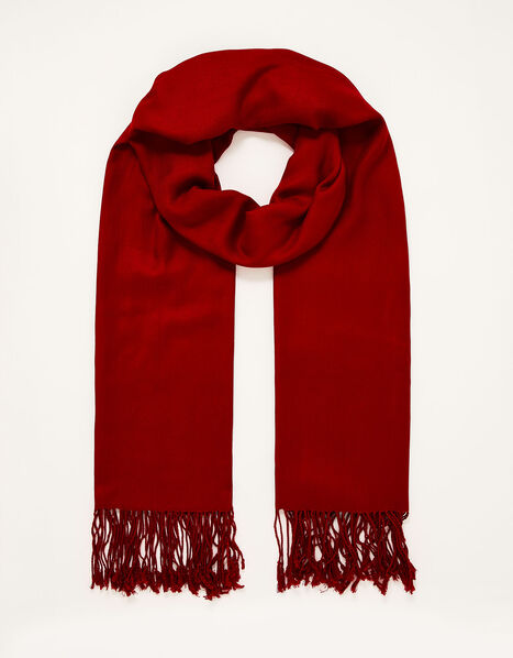 Ola Lightweight Occasion Scarf Red, Red (RED), large