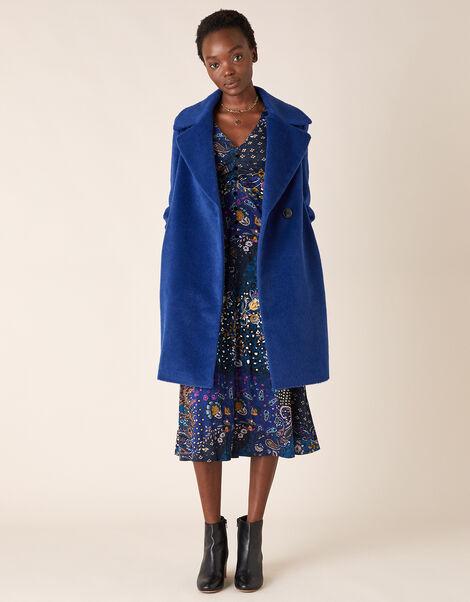 Eliza Textured Coat Blue, Blue (BLUE), large