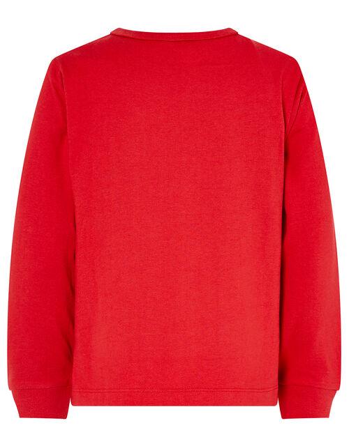 XMAS Sleigh Jersey Pyjama Set, Red (RED), large
