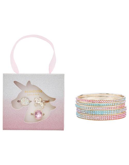 Unicorn Sparkle Ring and Bangle Set, , large