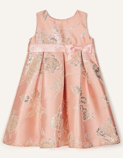 Baby Rose Jacquard Dress, Pink (PINK), large