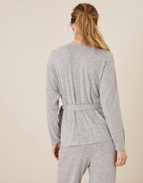 LOUNGE Jules Wrap Top, Grey (GREY), large