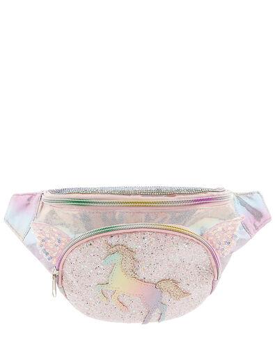 Rainbow Sparkle Unicorn Bumbag, , large